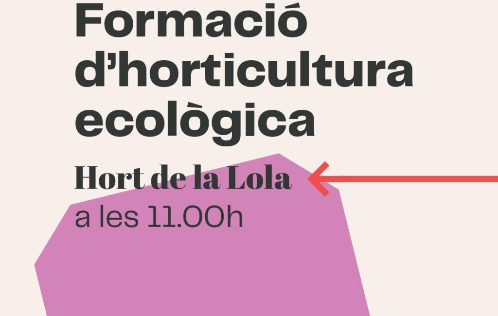 4 d'octubre // Formació d'horticultura ecològica