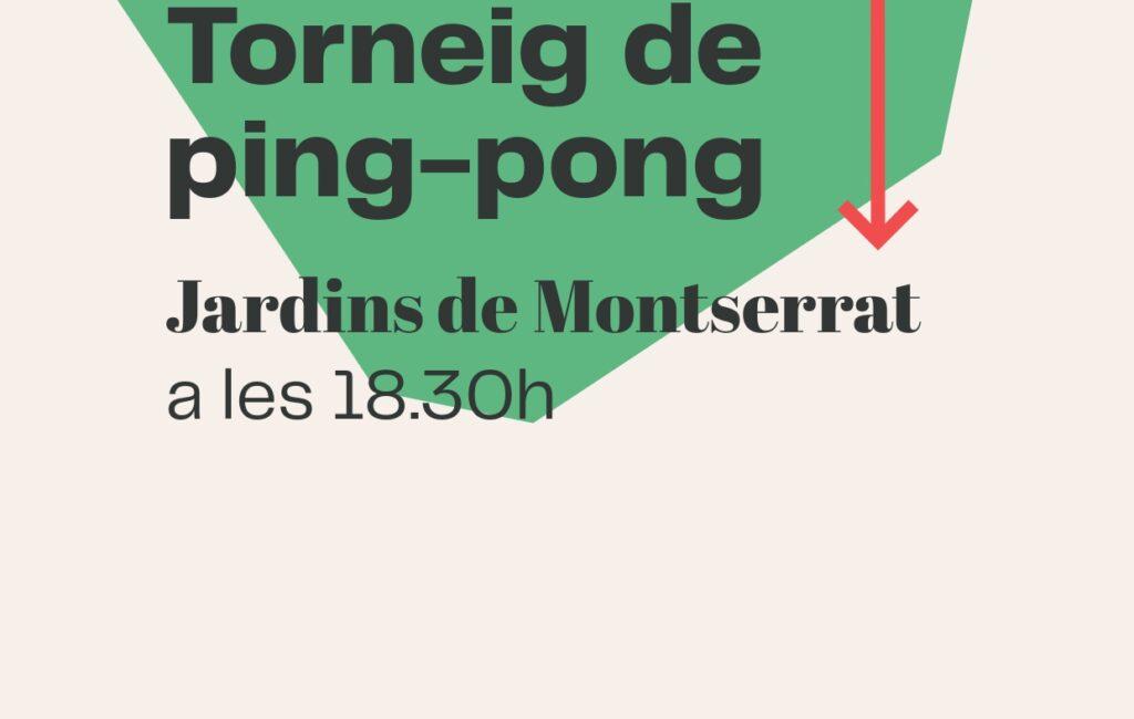 9 d'octubre // TORNEIG DE PING-PONG