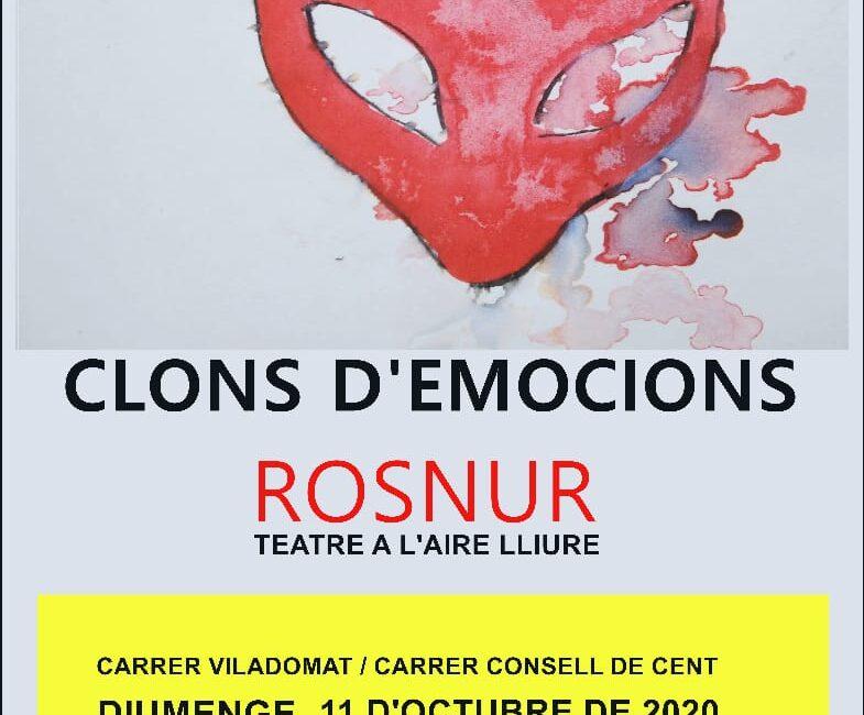 """11 d'octubre // Teatre improvisat: """"Clons d'emocions Rosnur"""""""